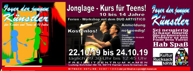 Header Foyer Kulturrucksack 2019 Jonglage rot