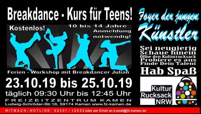 Header Foyer Kulturrucksack 2019 Breakdance black