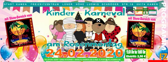 Kinder Karneval 2020 Header 1