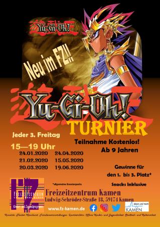 Flyer Yugioh Turnier 1. Halbjahr